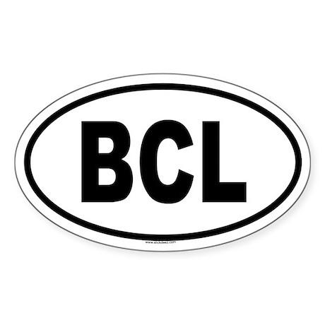 BCL Oval Sticker
