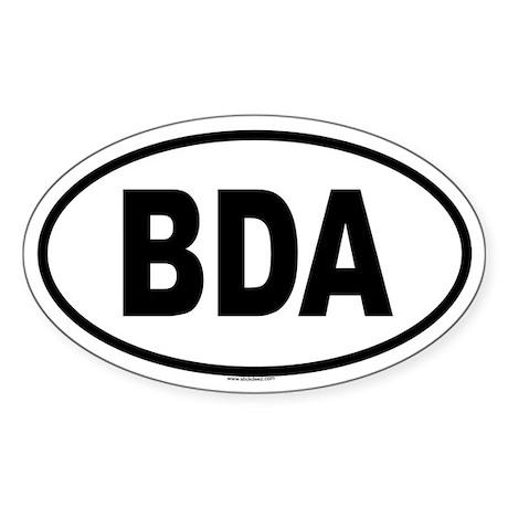 BDA Oval Sticker