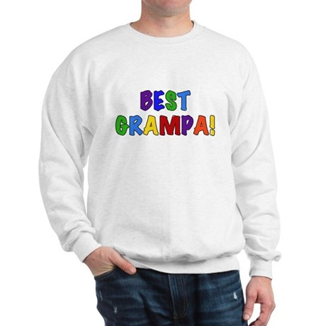 Colorful Text Best Grampa Sweatshirt