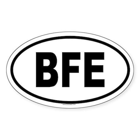 BFE Oval Sticker
