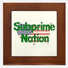 Subprime Nation Framed Tile