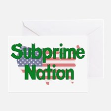 Subprime Nation Greeting Card