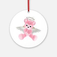 PINK ANGEL BEAR 2 Ornament (Round)