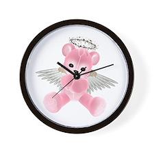 PINK ANGEL BEAR 2 Wall Clock