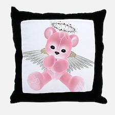PINK ANGEL BEAR 2 Throw Pillow