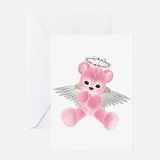 PINK ANGEL BEAR 2 Greeting Card