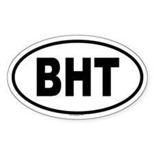 BHT Oval Decal