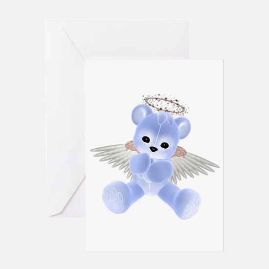 BLUE ANGEL BEAR 2 Greeting Card