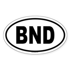 BND Oval Decal