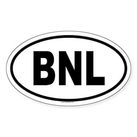 BNL Oval Sticker