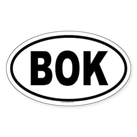 BOK Oval Sticker
