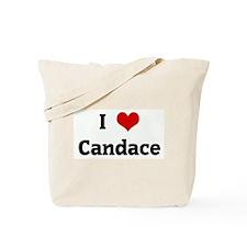 I Love Candace Tote Bag