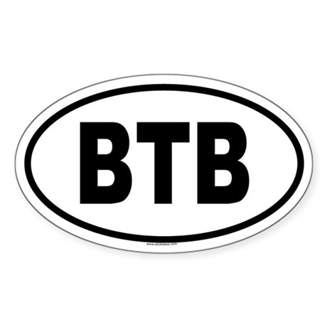 BTB Oval Sticker