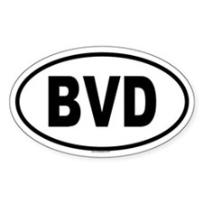 BVD Oval Decal