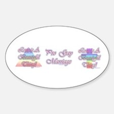 LIBT (Christian Gay Pride Sticker Oval)