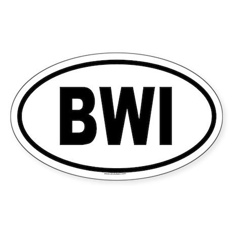 BWI Oval Sticker