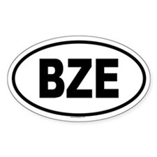 BZE Oval Decal