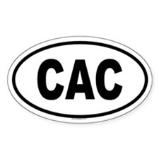 CAC Oval Decal