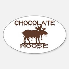 Chocolate Moose Oval Decal
