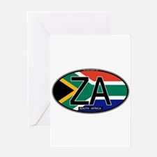 South Africa Colors Oval Greeting Card