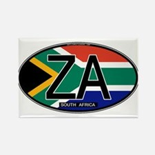 South Africa Colors Oval Rectangle Magnet