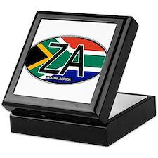 South Africa Colors Oval Keepsake Box