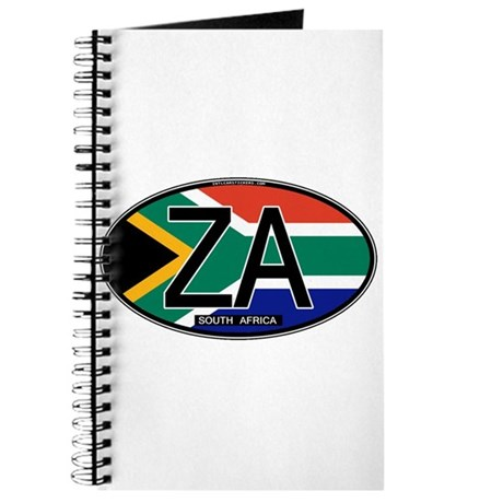 South Africa Colors Oval Journal