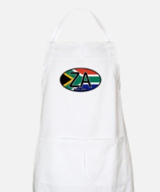 South Africa Colors Oval BBQ Apron