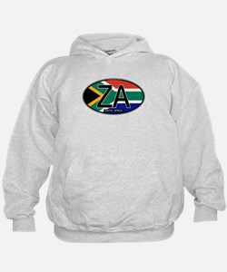 South Africa Colors Oval Hoodie