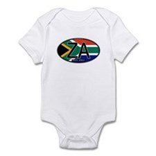 South Africa Colors Oval Infant Bodysuit