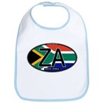 South Africa Colors Oval Bib