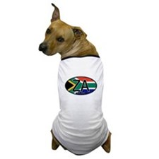 South Africa Colors Oval Dog T-Shirt