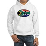 South Africa Colors Oval Hooded Sweatshirt