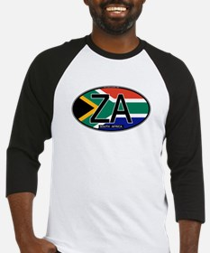 South Africa Colors Oval Baseball Jersey