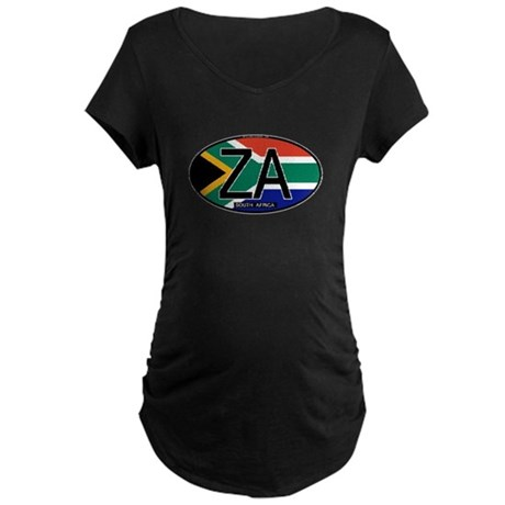South Africa Colors Oval Maternity Dark T-Shirt