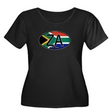 South Africa Colors Oval T