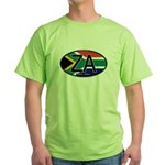 South Africa Colors Oval Green T-Shirt