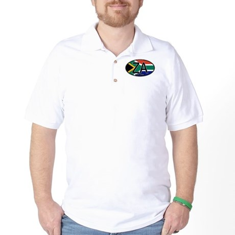 South Africa Colors Oval Golf Shirt