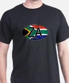 South Africa Colors Oval T-Shirt