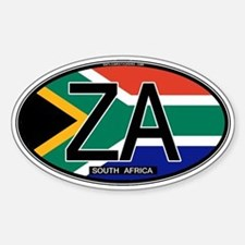 South Africa Colors Oval Oval Bumper Stickers