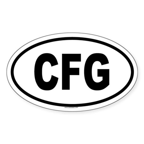 CFG Oval Sticker