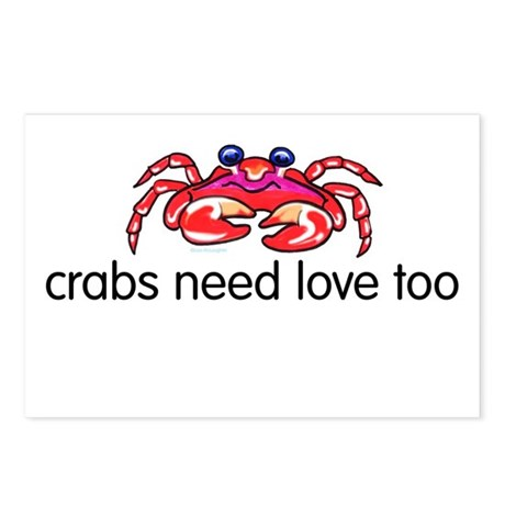 crabs need love too Postcards (Package of 8)