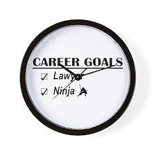 Lawyer Career Goals Wall Clock
