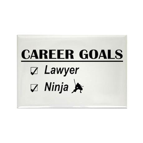 Lawyer Career Goals Rectangle Magnet