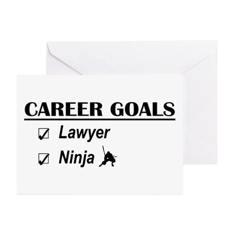 Lawyer Career Goals Greeting Cards (Pk of 10)