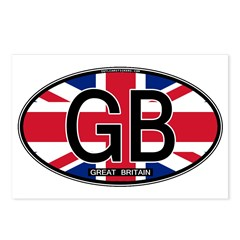 Great Britain Colors Oval Postcards (Package of 8)