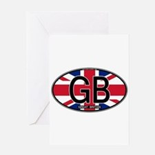 Great Britain Colors Oval Greeting Card