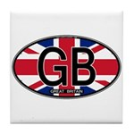 Great Britain Colors Oval Tile Coaster