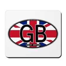 Great Britain Colors Oval Mousepad