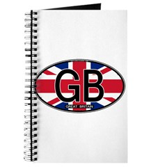 Great Britain Colors Oval Journal